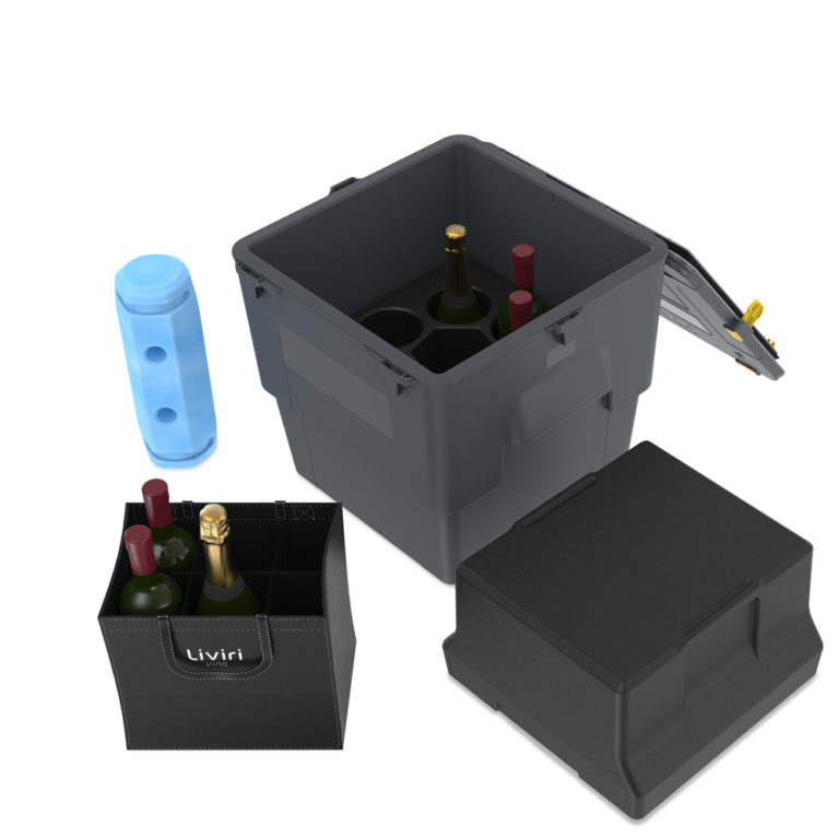 Vino6, unpacked with accessories