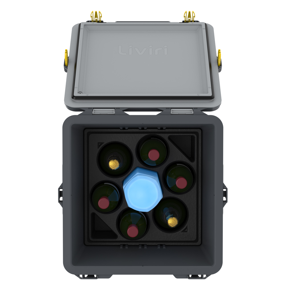 Vino6, top view with wine and ice pack