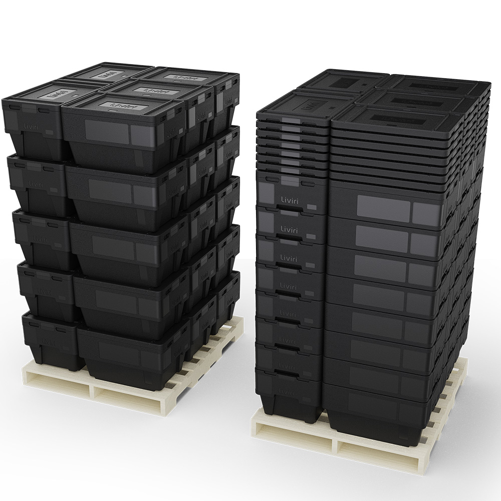 Sprint boxes on pallets