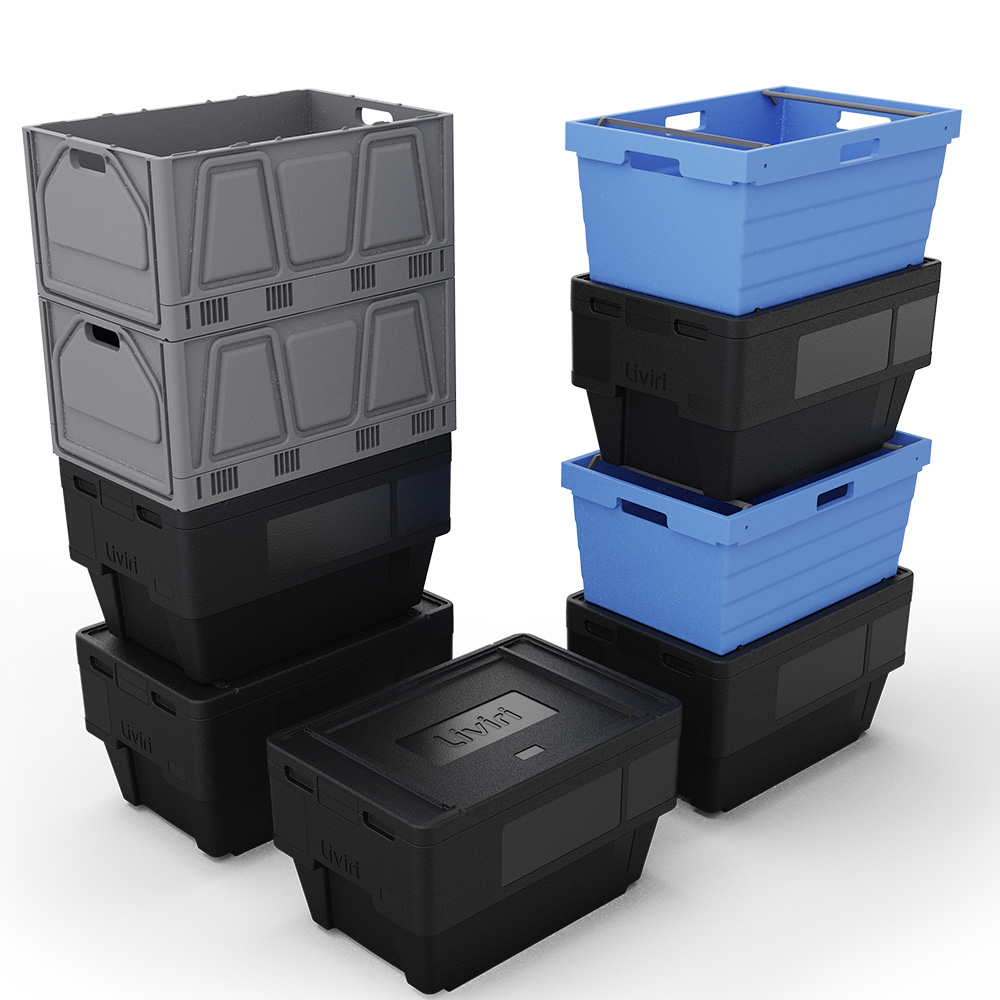 Liviri boxes stacked
